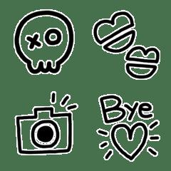 毎日使えるモノクロ絵文字(1)