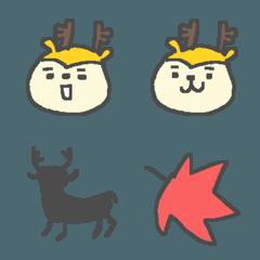 ちび小鹿の絵文字♪♪♪