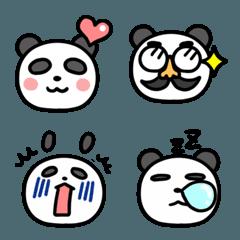 【絵文字】ゆるパンダと鼻メガネ