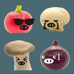 野菜と果物の顔文字