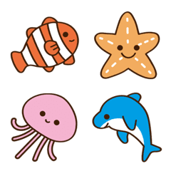 海の生き物絵文字