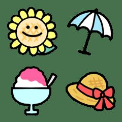 夏のカラフル絵文字