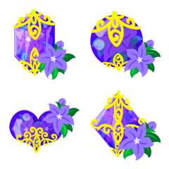 Purple Flower Emoji