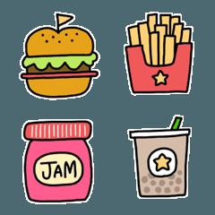 シンプルで可愛い海外風食べ物絵文字