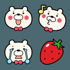 苺が好きな熊のキャラクターの絵文字。