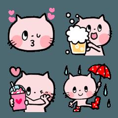 毎日使えるゆるかわピンクのネコ♡夏ver