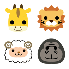 シンプル可愛い動物の顔絵文字