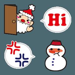 サンタクロースと雪だるまの絵文字2