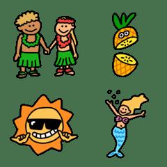 夏にぴったり!ハワイアン絵文字!