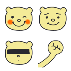 くまの顔絵文字