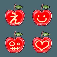 絵りんご-RED-デコ文字