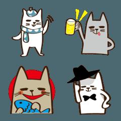 絵文字のほのぼの猫