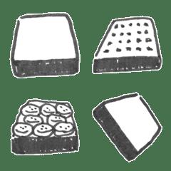 【手描き】あらゆる食パン添え絵文字