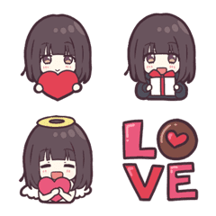 くるみちゃん。のバレンタイン絵文字。