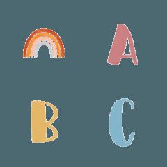 くすみカラーシンプル絵文字