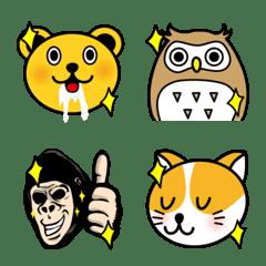 愉快な動物達の絵文字3
