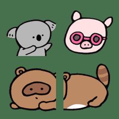 まるいコアラと動物たちの絵文字