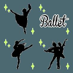 バレエ シルエット 絵文字*ballet*