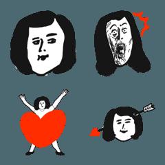 いかようにも使える微妙な表情の絵文字