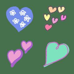 Artistic heart 絵文字
