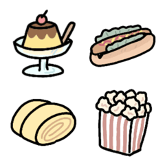 よく使う☆シンプル食べ物絵文字