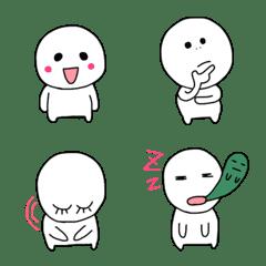 シンプルな喜怒哀楽の人絵文字