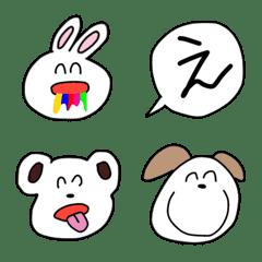 愉快な動物絵文字 シンプル かわいい