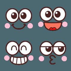 かわいい☆大きな目の顔文字