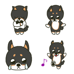 うるうる目の黒柴犬 絵文字