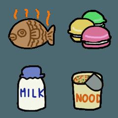 いろいろな食べ物の絵文字