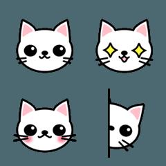 白猫のシロ 〜絵文字〜