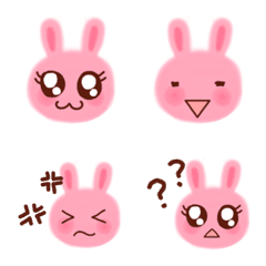 Pink rabbit's face