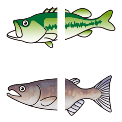 つながる 魚釣りの絵文字