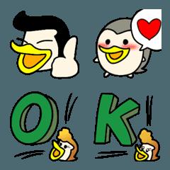 リーゼントが似合うペンギン家族の絵文字