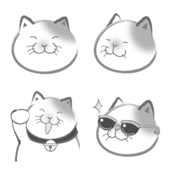 墨絵猫の絵文字だよ