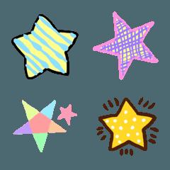 キラキラお星さまの絵文字