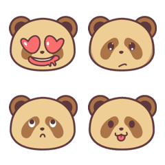 Brown Panda Emoticon