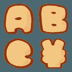 昭和レトロなクッキー文字