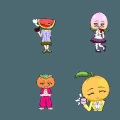 ラブリーガールズ果物の絵文字