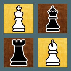 チェス お馴染みゲーム駒と盤付きの絵文字
