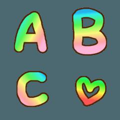 【ABC】パステルグラデのデコ文字