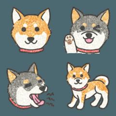 ほのぼの柴犬の絵文字