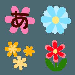 お花の絵文字&デコ文字