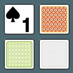 トランプ カード絵文字スペード&クローバー