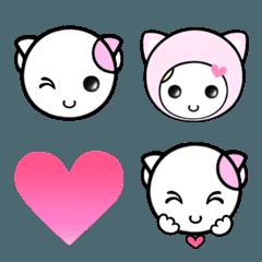 福猫の桜ちゃん 愛をつかめ 絵文字