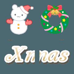 クリスマスにぴったり!絵文字&メッセージ