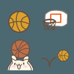 シンプルなバスケ絵文字