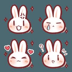 Playful and naughty rabbit