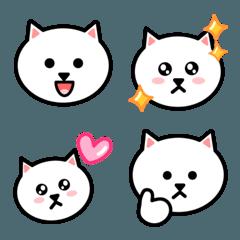 かわいい白猫の顔 絵文字
