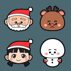 皆の幸せなクリスマススタンプ絵文字